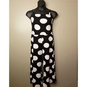 NWOT Plus Size Polka Dot Capri Jumpsuit